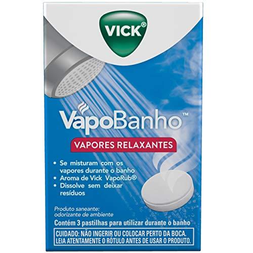 Vapores Relaxantes Vick VapoBanho 3 Unidades, Vick