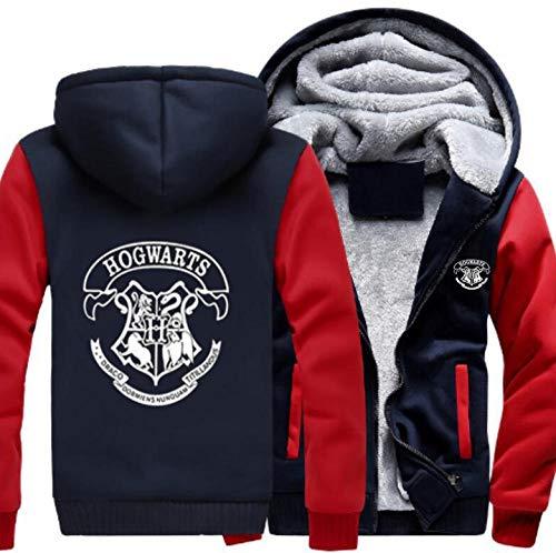 Harry Hoodie Jacket Winter Plus Velvet Sudadera con Cremallera Gruesa Ropa Superior Traje de Cosplay para Hombres Mujeres Adolescentes-A08_2XL