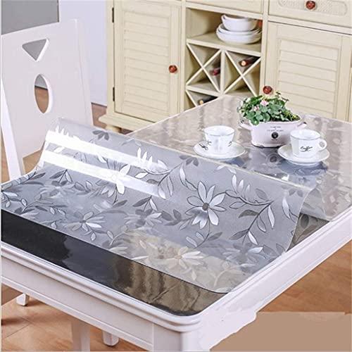 KTDT Bordsduk vinyl flanell baksida fyrkantig 70 x 240 cm, bordsduk rektangel plast, bordsskydd plastrulle, för fester, bröllop, kök, skrynkelbeständigt bordsskydd