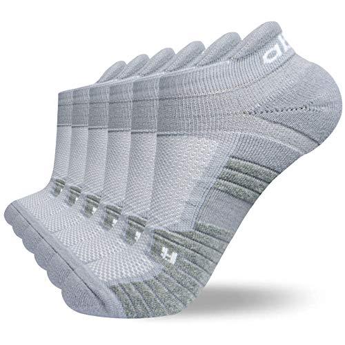 Abida 6 Paar Sportsocken Laufsocken für Männer Frauen Gepolsterte Knöcheltrainer Socken Athletic Walking Socken