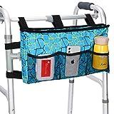 SupreGear Walker Bag, Bolsa de Asas para Organizador de Bolsas Plegables para Cualquier Tipo de Andador con Ruedas y Silla de Ruedas, Lavable a Máquina (Azul)