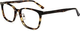 Firmoo Rectangle Blue Light Blocking Glasses Computer Eyeglasses Tortoise Shell Non Prescription Anit UV Eyewear Unisex