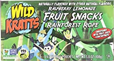 Wild Kratts, Raspberry Lemonade Fruit Snacks Rainforest Rope, 6 CT