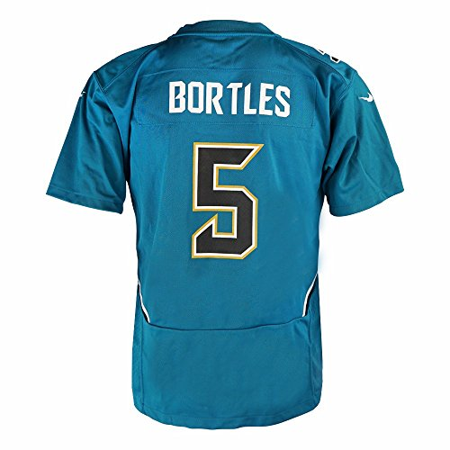 Nike Blake Bortles Jacksonville Jaguars NFL Teal Game Team Jersey for Youth (S)
