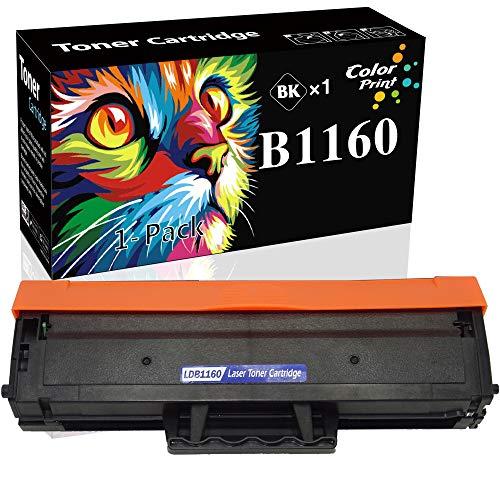 ColorPrint Compatible Toner Cartridge Replacement for Dell B1160 YK1PM 1160 331-7335 HF44N 1160 to use with HF442 B1160w B1163w B1165nfw Mono Laser Printer (1-Pack, Black)