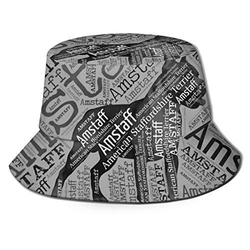 pants hats American Staffordshire Terrier - Amstaff Fisherman Hat for Men Women Beach Sun Hat