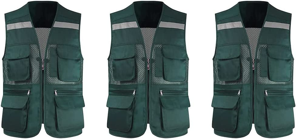 lhl Bright Reflective Vest High Selling and selling Zipper Super intense SALE Multifunctional Pock Mesh