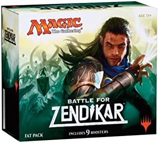 Magic the Gathering (MTG) Battle for Zendikar - Fat Pack (Includes 9 Booster and 80 Full Art Land)