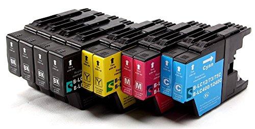 SilverTrade LC1240 - Cartucho de Tinta para impresoras Brother, Color Cian, Magenta Amarillo y Negro