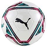 Puma teamFINAL 21.6 MS Ball Ballon De Foot Mixte Adulte, White-Rose Red-Ocean Depths Black, 5