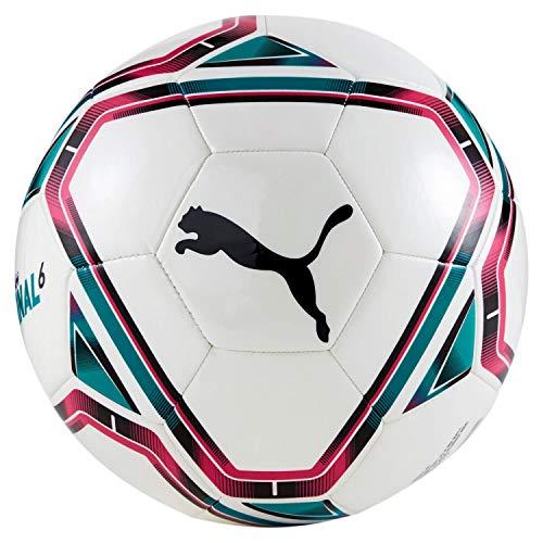 PUMA Unisex– Erwachsene teamFINAL 21.6 MS Ball Fußball, White-Rose Red-Ocean Depths Black, 5