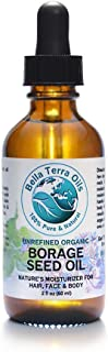 Borage Seed Oil 2 oz (GLA) 100% Pure Cold-pressed Unrefined PA-free Organic - Bella Terra Oils
