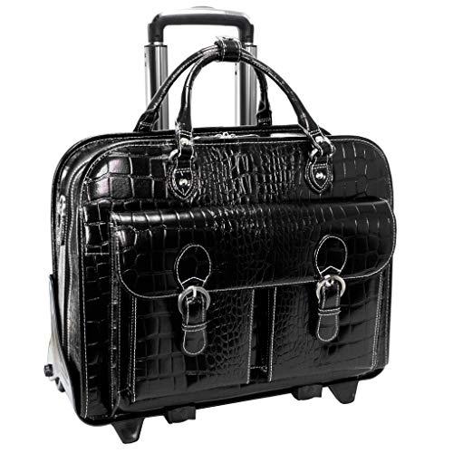 Siamod SAN MARTINO Ladies' Detachable-Wheeled Briefcase 15 Laptop Case Black
