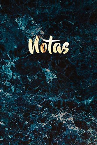 Notas: Mármol Azul y Cuaderno de Oro Brillante   Bonito Diario de Mármol para Escribir   Elegante Cuaderno blanco con Líneas para Escribir