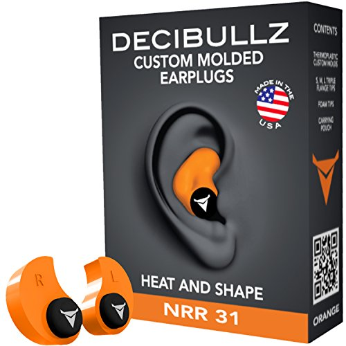 Decibullz – Custom Molded Earplugs, 31dB Highest NRR, Comfortable Hearing Protection for Shooting…