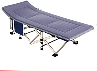 Loungers Outdoor Folding Bed Single Bed Home Adult Bed Simple Cloth Bed Camping Bed accompanying Bed (Color : Gray, Size : 190 * 67 * 35 cm)