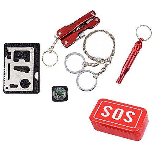 Taihang SOS Emergency Equipment Tool Kit Erste-Hilfe-Box Angeln liefert Outdoors Survival Gear