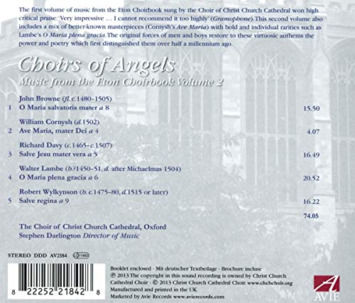 Choirs of Angels: Music from the Eton Choirbook, Vol. 2
