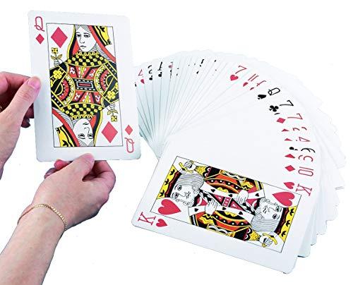 TickiT 52856 Giant Jumbo speelkaarten deck binnen en buiten tuin familie party BBQ spel Kerstmis fete fair hoge lower zwart & rood