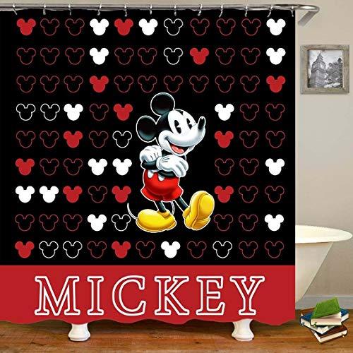 Aliyz Mickey Mouse Home Hotel Badezimmer Dekoration Wasserdicht Mehltaue Umweltfre&liche Pflege Duschvorhang Vorhang Polyestergewebe 71x71 Zoll