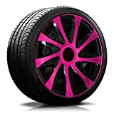15 Zoll RKK04 Multi-Color Line (Schwarz-Pink) Radkappen/Radzierblenden 4 Stück