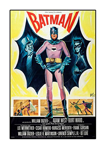 Póster de Batman 3 1966 A3 de Adam West Lee Meriwether Burt Ward, película Colorida, Foto Antigua, impresión Retro