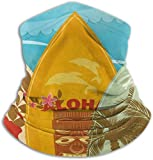 Alanader Tube Mask Stirnband Hawaiian Beach Surfboards On Sand Warmer - Reversible Neck Gaiter Tube, Ear Warmer Headband, Mask & Beanie. Ultimate Thermal Retention, Versatility & Style