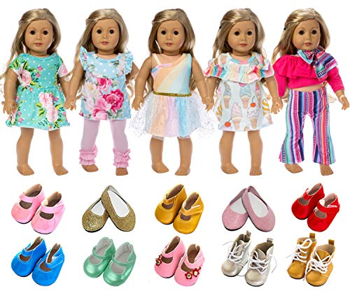 18 inch American Doll Baby Doll Toy Bathrobe Shoes 3Sets Outfits Clothes Hat