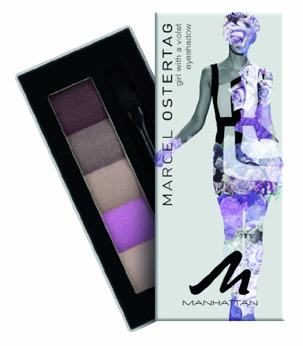 Manhattan Eyeshadow Palette By Marcel Ostertag With Applicator-04 Girl With A Violet