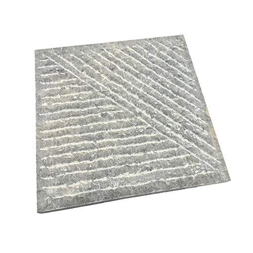XTXWEN Lastra di Pietra, Pietra Quadrata, Pietra per lastricati, Pietra Antiscivolo Antica, Superficie della rampa Artificiale, 300 * 300 * 30 mm