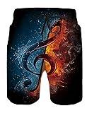 Idgreatim - Bañador para hombre con estampado 3D para playa, pantalones cortos de surf Pescado M