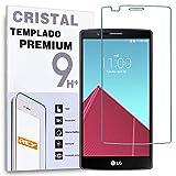 REY Protector de Pantalla para LG G4 Cristal Vidrio Templado Premium