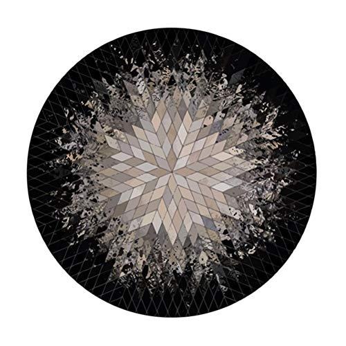 Tapis Rond américain Tapis Design Tapis Salon Chambre à Coucher Salle de Piano Tapis antidérapant en Polyester Haut de Gamme (Taille : Diameter180cm)