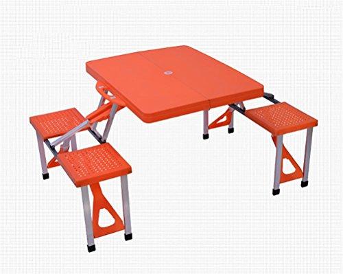 Ruirui Stuks aluminium klaptafel met banken zitgarnituur voor camping - Mobile tafelbank set voor 4 personen biertafelset