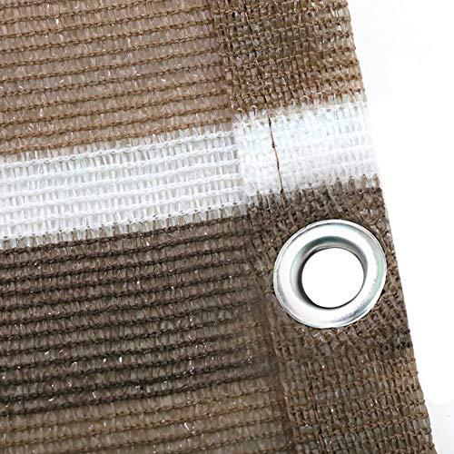 Filet d'ombrage Rayures Marron et Blanches Tissu D'ombrage - Balcon Sur le Toit-terrasse Avec Toit Pare-soleil et Oeillets, Auvent Léger pour Auvent (Size : 1.8×2.4m)