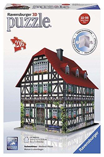Ravensburger - Puzzle 3D Building: casa Medieval (12572 2)
