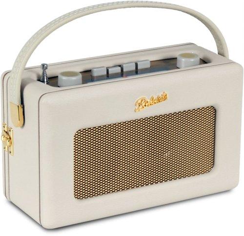 Revival R250 portable (UKW / MW-Tuner Retro-Radio) pastell cream