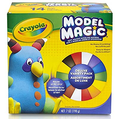 Crayola Model Magic, Deluxe Craft Pack, Gift, 14 Single Packs, At Home Crafts for Kids