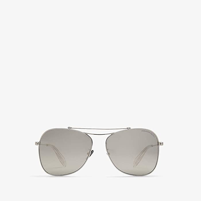 Alexander McQueen  AM0096SA (Silver/Gold) Fashion Sunglasses