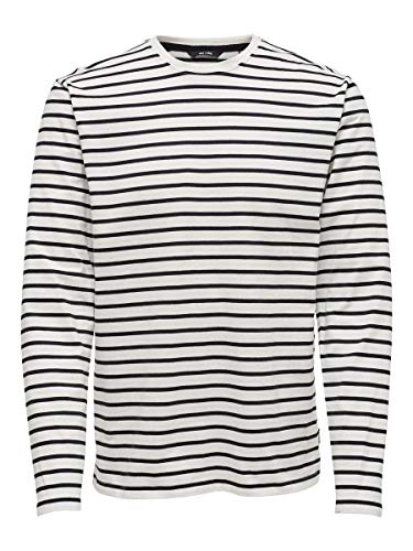 ONLY & SONS Herren T-Shirt Striped XLCloud Dancer 1
