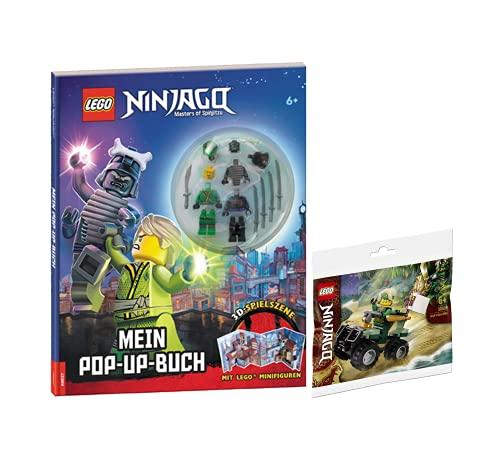 Collectix Lego Set – Lego Ninjago Maestro del Spinjitzu Mi libro desplegable + bolsa de plástico Lego Ninjago (varios modelos)