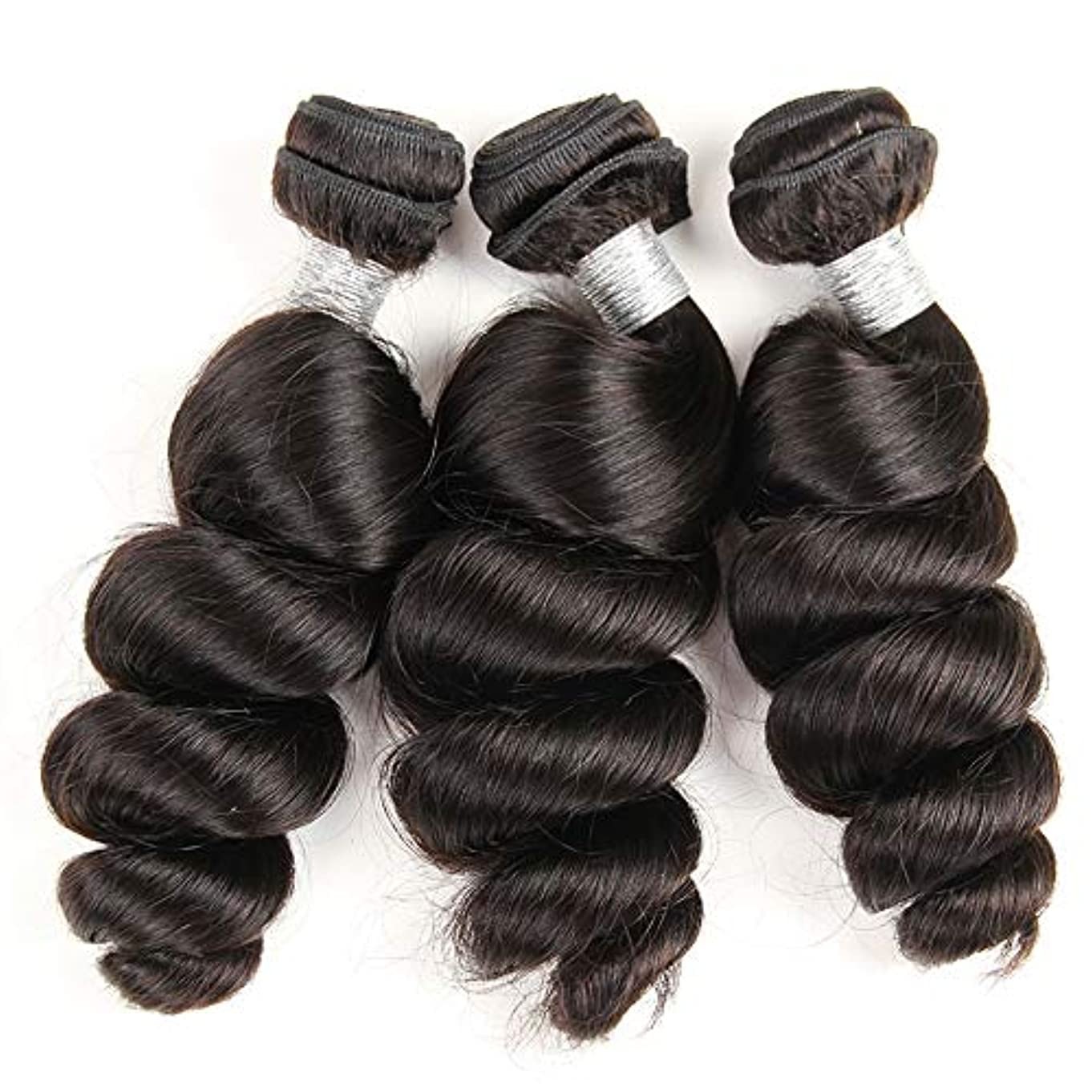 暗いインフレーション予防接種女性ブラジルバージンルースディープウェーブ1バンドル人間の髪未処理のremyミンクルースカーリーヘアエクステンション織り