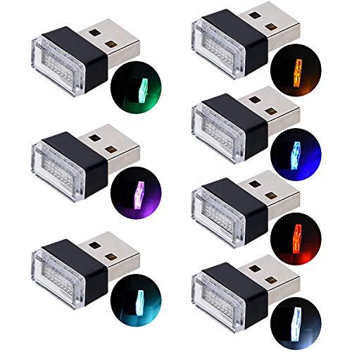 Auto USB Beleuchtung,USB Innenbeleuchtung LED Atmosphäre Licht Ambientebeleuchtung Innenraumbeleuchtung Auto Innenraum Deko.(7 Farben, Rot/Grün/Blau/Gelb/Weiß/Lila/Eis-Blau)