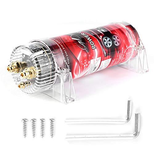 Condensador de audio para coche, condensador de potencia de audio de 2,0 faradios de audio para coche, estabilizador de coche con regulador de voltaje para sistemas de hasta 2000 W