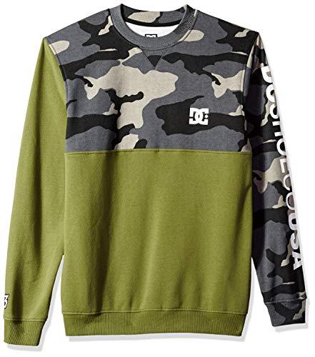 DC Apparel Herren Ken Block Founders Series Sweatshirt, Burnt Olive Clewiston Crew, XX-Large