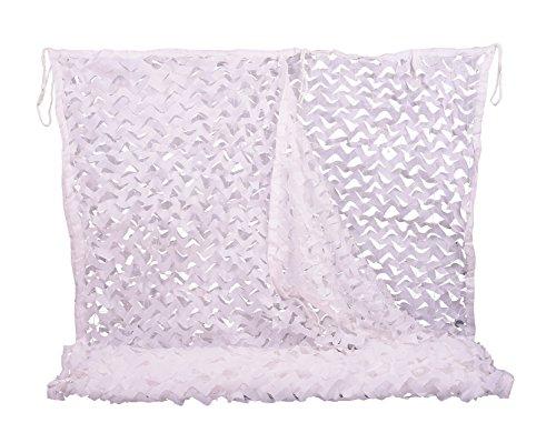 NINAT Red de Camuflaje 6Mx6M Blanco Mallas de Protección Camouflage Net para la Caza Redes de Camuflaje, el Camuflaje, Cámping, Cubre Objetos