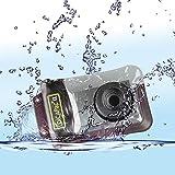 custodia impermeabile per fotocamera digitale dicapac compatibile con95% di tutte le fotocamere digitali - impermeabile fino a 10m ipx8