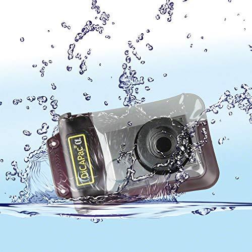 DiCAPac wasserdichte Kamera Schutzhülle passend zu Sony Cybershot DSC W 830 / DSC W 85 / DSC W 90 - wasserdicht bis 10m IPX8