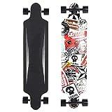 Xinwoer Tabla de Skate, 41 Pulgadas Tabla de Baile de Skate de 4 Ruedas Tabla de Skate portátil Antideslizante Tabla de Skate de 250 kg Capacidad de Carga Longboard