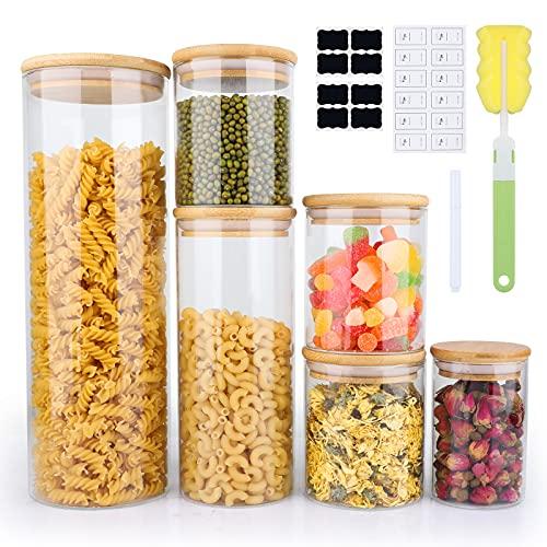 6-Pack Yibaodann Glass Food Storage Jars w/Bamboo Lids Only $21.53 (Retail $35.88)